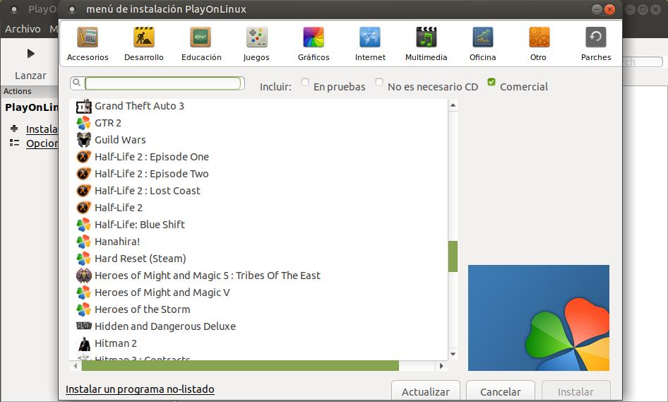 Liberada la nueva versión de PlayOnLinux 4.3
