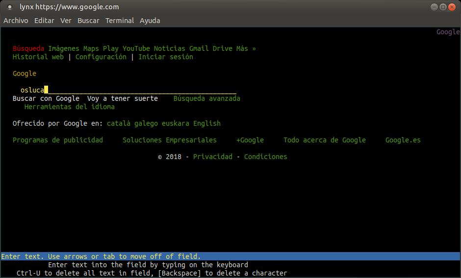 ¿Se puede navegar por la web desde la terminal de Linux?